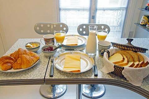 Frühstück in Küche