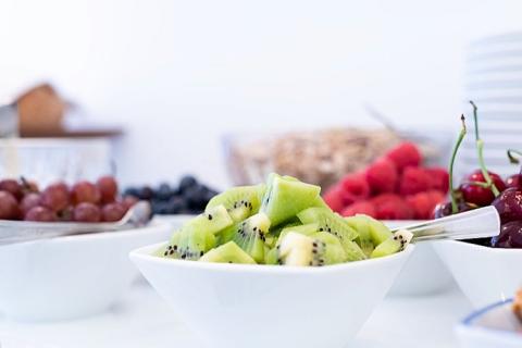 Frisches Obst zum Frühstück