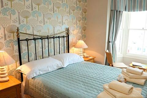 Ein Doppelzimmer mit Meerblick