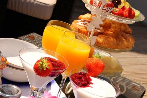 Frühstück auf der Terrasse, B&B Frances, Scilly Inseln