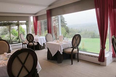 Restaurant mit Dartmoorblick