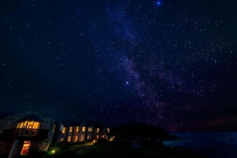 Meerblickhotel St. Martin's by night