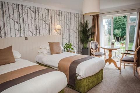 Ein Garten Zweibettzimmer