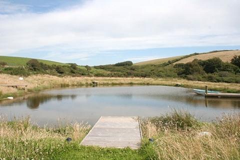 Teich nahe Gut