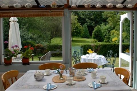 Tearoom im Sommer