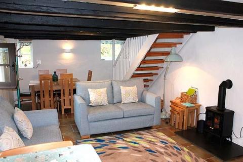 Wohn-/ Esszimmer, Ferienhaus Melinda, Cornwall