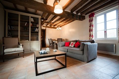 Wohnzimmer im Ferienhaus Nora