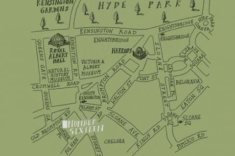 Lageplan des Hotels