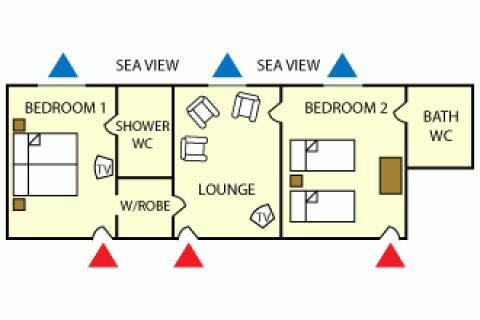 Grundriss Apartment Suite A