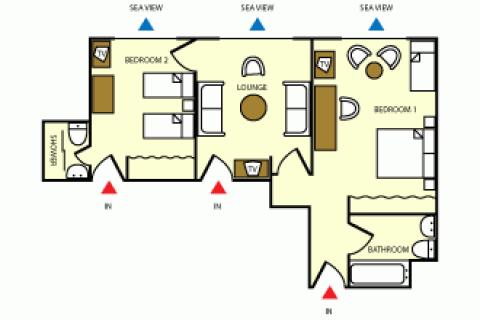 Grundriss Apartment Suite B