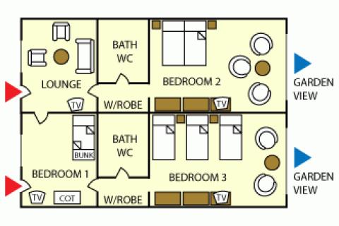 Grundriss Apartment Suite C