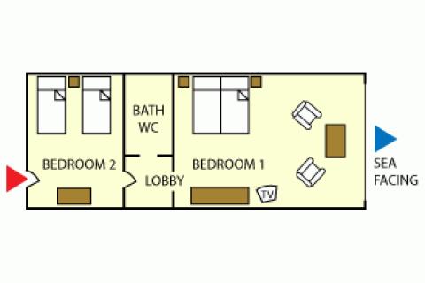 Grundriss Comfort Suite