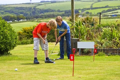 Kleiner Golfplatz