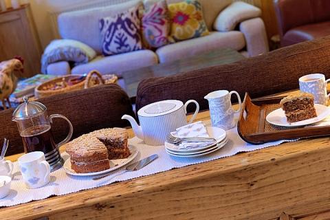 Tea time im Frühstücksraum
