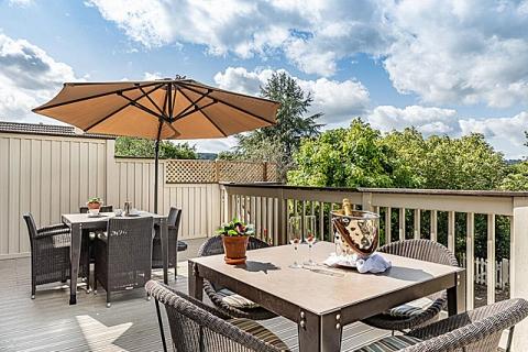 Terrasse für einen Tee am Nachmittag